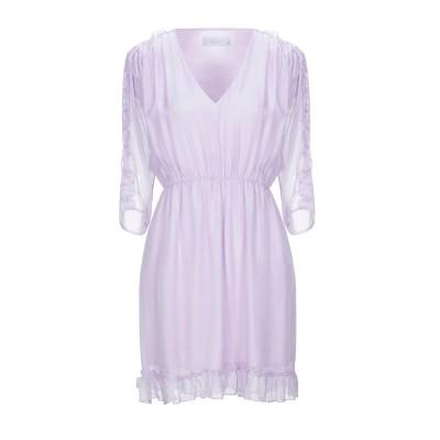 カオス KAOS ミニワンピース&ドレス ライラック 42 シルク 100% ミニワンピース&ドレス