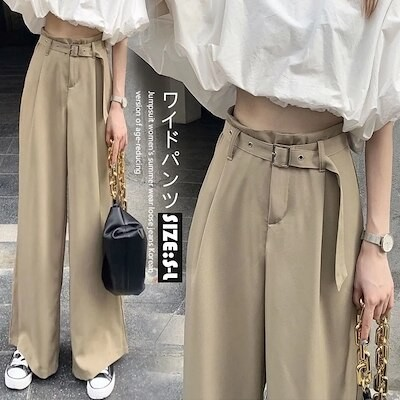 3FD293 韓国ファッション ロングパンツ ワイドパンツ ズボン パンツ 新色タイプ リネン風ワイドパンツ 麻綿パンツ 無地 美脚 韓国ファッション 無地 美脚リ カジュアル体型AX191