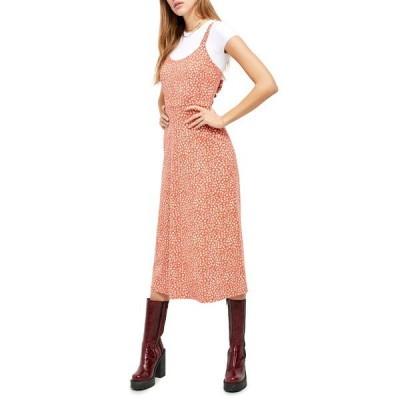 フリーピープル レディース ワンピース トップス Lorelai Daisy Print Tie Back Sundress RED