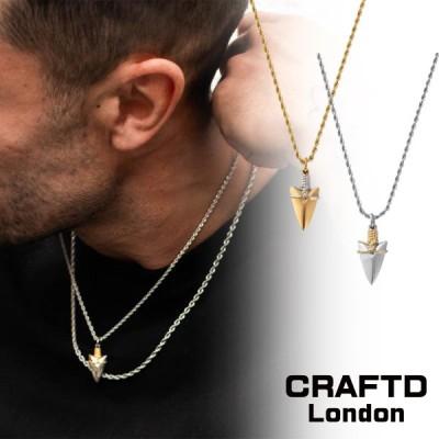 CRAFTD London クラフトロンドン ARROW ネックレス ゴールド シルバー メンズ 18kゴールド 金 人気[アクセサリー]