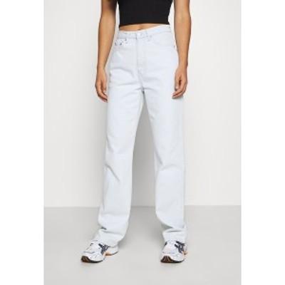 ウィークデイ レディース デニムパンツ ボトムス ROWE - Straight leg jeans - bleached blue bleached blue