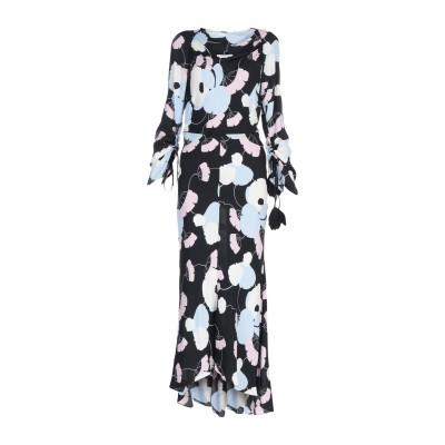 マルニ MARNI ロングワンピース&ドレス ブラック 38 レーヨン 100% ロングワンピース&ドレス