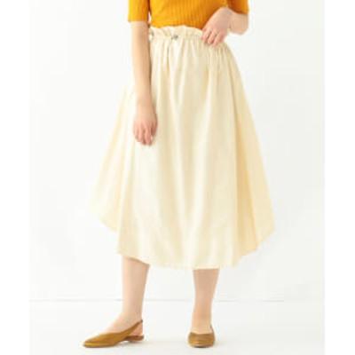 【アウトレット】【洗える】Demi-Luxe BEAMS / ラウンドヘム スカート