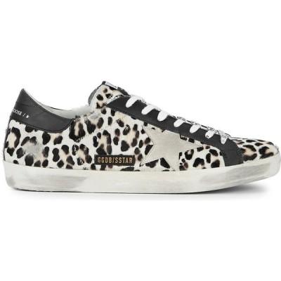 ゴールデン グース Golden Goose Deluxe Brand メンズ スニーカー シューズ・靴 Superstar leopard-print calf hair sneakers Yellow