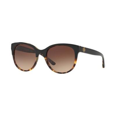 トリーバーチ サングラス&アイウェア アクセサリー レディース Sunglasses, TY7095 TORTOISE BLACK/BROWN GRADIENT