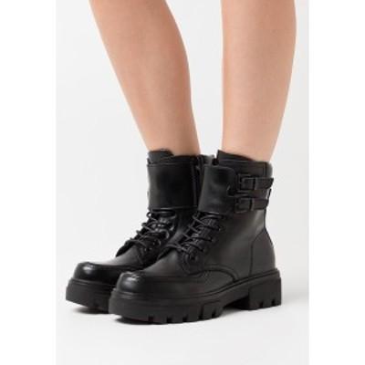 リプレイ レディース ブーツ&レインブーツ シューズ VEGAN HANNA AISTONE - Platform ankle boots - black black