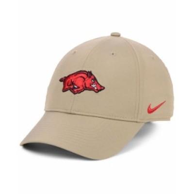 ナイキ メンズ 帽子 アクセサリー Arkansas Razorbacks Dri-FIT Adjustable Cap Khaki
