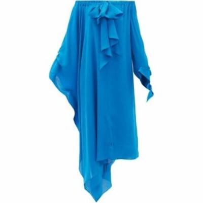 ローラン ムレ Roland Mouret レディース ワンピース ワンピース・ドレス Caldera off-the-shoulder silk-georgette dress Blue