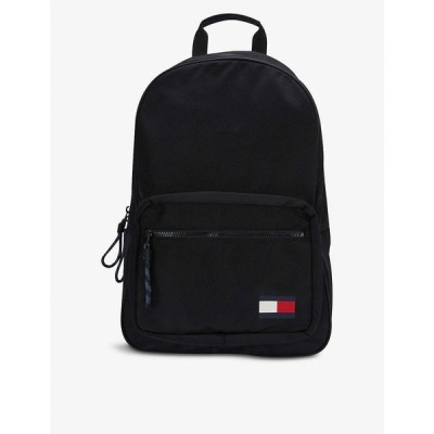トミー ヒルフィガー TOMMY HILFIGER メンズ バックパック・リュック バッグ Flagback branded shell backpack BLACK