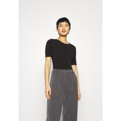 メイドウェル Tシャツ レディース トップス CREWNECK SHORT SLEEVE BODYSUIT - Basic T-shirt - true black