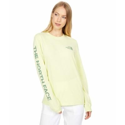 ノースフェイス シャツ トップス レディース Simple Logo Long Sleeve Tee Pale Lime Yellow