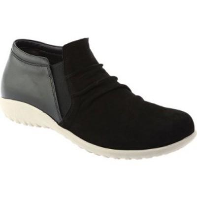 ナオト Naot レディース スリッポン・フラット シューズ・靴 Terehu Slip On Black Nubuck/Black Raven Leather