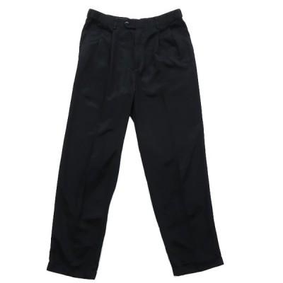 スラックス パンツ ツータック ブラック サイズ表記:W32L32