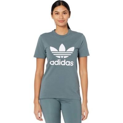 アディダス adidas Originals レディース Tシャツ トップス Trefoil Tee Blue Oxide