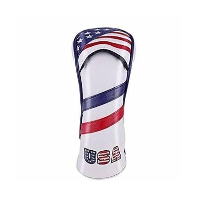 ゴルフヘッドカバー ユーティリティ UT用 防水仕様 変換ダグ付き スカル/USA/England国旗/迷彩 (USA Flag)