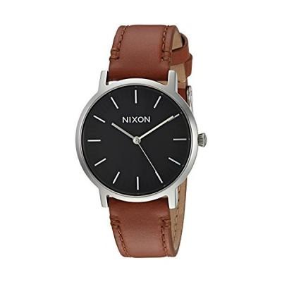 Nixon Men 's ' Porter 35レザー' QuartzステンレススチールCasual Watch, Color : Brown (Model : a11991037?)