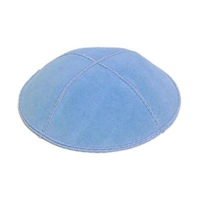 A1 Skullcap Suede Fabric Kippot Single or Bulk Kippah Optional Custom Imprinting Inside for Your Speacial Event … Light Blue【並行輸入品】