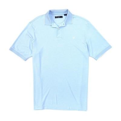 クレミュ メンズ ポロシャツ トップス Cotton Blend Solid Short-Sleeve Polo Shirt Powder Blue