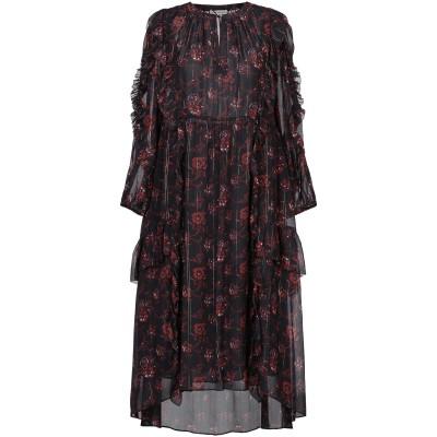ULLA JOHNSON 7分丈ワンピース・ドレス ブラック 2 シルク 98% / ポリエステル 2% 7分丈ワンピース・ドレス