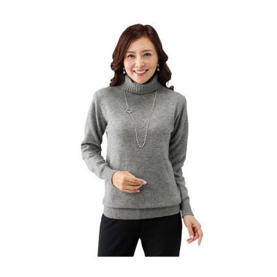 レディースファッション レディース トップス ニット セーター ウール100%洗えるタートルネックセーター M L LL 2539-319439