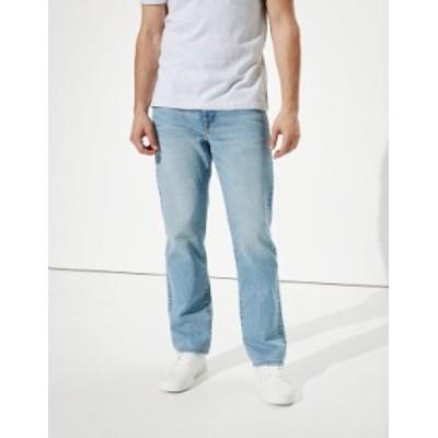 アメリカンイーグル メンズ デニムパンツ ボトムス AE AirFlex+ Relaxed Straight Jean Faded Light