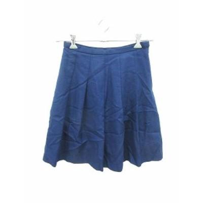 【中古】ユナイテッドアローズ UNITED ARROWS スカート フレア ひざ丈 40 青 ブルー /KB レディース