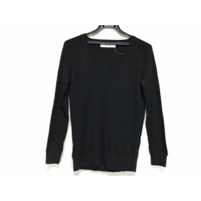 ルシェルブルー LE CIEL BLEU 長袖セーター サイズ38 M レディース - 黒 Vネック【中古】20200506