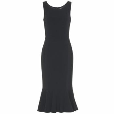 ドルチェ&ガッバーナ Dolce & Gabbana レディース ワンピース ワンピース・ドレス Ruffle-hem crepe dress Black