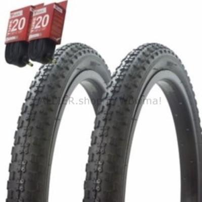 """BMX 1ペア! 自転車用自転車用タイヤ チューブ20 """"x 2.125""""ブラック/ブラックサイドウォールBMX COMP3  1"""