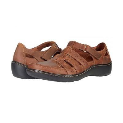 Clarks クラークス レディース 女性用 シューズ 靴 サンダル Cora River - Dark Tan Leather