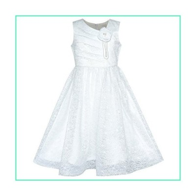 Flower Girl Dress Off White Lace First Communion Wedding Bridesmaid Size 8並行輸入品