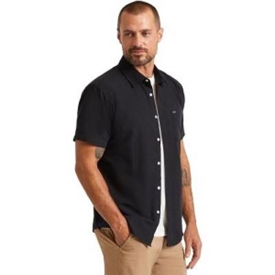ブリクストン メンズ シャツ トップス Charter Oxford Short-Sleeve Woven Shirt Black