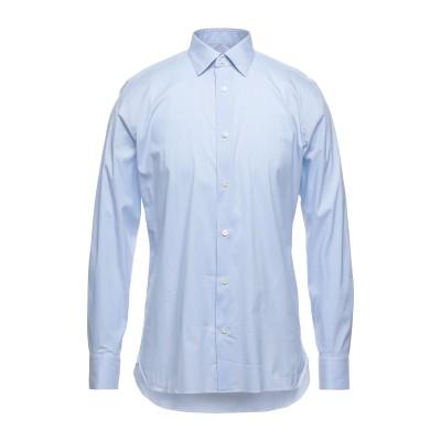 ZZEGNA シャツ アジュールブルー 39 コットン 72% / ナイロン 25% / ポリウレタン 3% シャツ