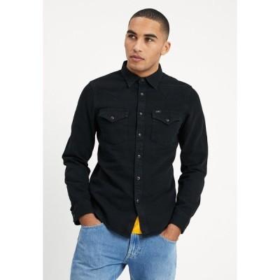 リー シャツ メンズ トップス WESTERN - Shirt - black