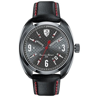 フェラーリ Ferrari 腕時計 Ferrari 830207 Scuderia Sportivo Mens Watch - Black Dial