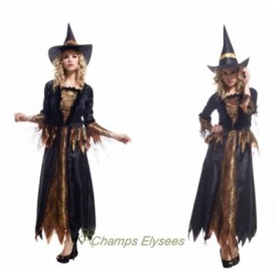 ハロウィン 2点セット コスチューム パーティー 巫女 コスプレ 女巫衣装 レディース 大人用 ワンピース