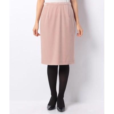 ANAYI/アナイ トリアセベロアタイトスカート ピンクベージュ1 34