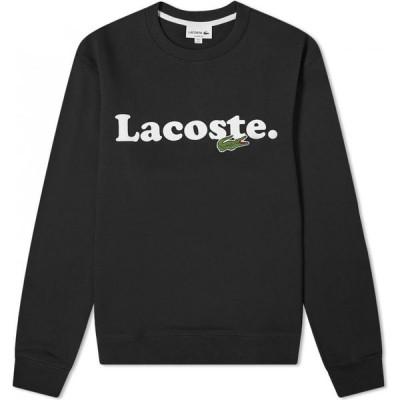 ラコステ Lacoste メンズ スウェット・トレーナー トップス text logo crew sweat Black