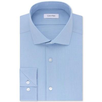 カルバンクライン メンズ シャツ トップス Calvin Klein Men's STEEL Slim-Fit Non-Iron Stretch Performance Dress Shirt