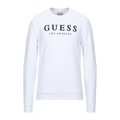 ゲス GUESS スウェットシャツ ホワイト XS ポリエステル 52% / コットン 48% スウェットシャツ