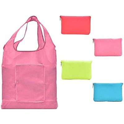 エコバッグ 折り畳み おしゃれ ショッピングバッグ かわいい 4個セット 大きめ コンパクト コンビニ キャラクター 収納 人気