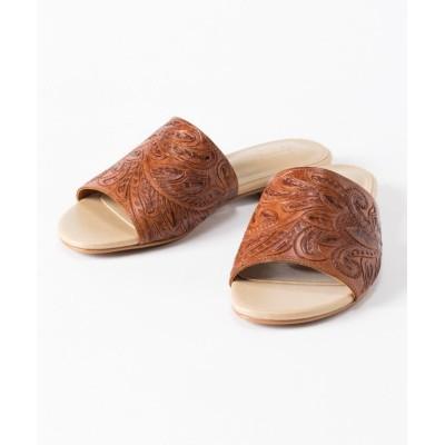 (GRACE CONTINENTAL/グレースコンチネンタル)Flat Sandal/レディース ブラウン