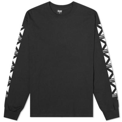 バウンティーハンター Bounty Hunter メンズ 長袖Tシャツ ロゴTシャツ トップス Long Sleeve Square Logo Tee Black