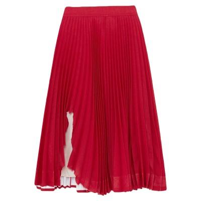 CALVIN KLEIN 205W39NYC 7分丈スカート レッド 40 ポリエステル 100% 7分丈スカート