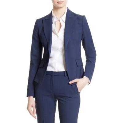 セオリー THEORY レディース スーツ・ジャケット アウター Brince B Good Wool Suit Jacket Sea Blue