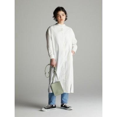 【コエ】バンドカラーシャツワンピース