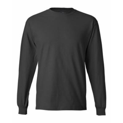 Hanes  ファッション トップス Hanes Mens 6.1 oz. Long-Sleeve Beefy-T 5186 S-3XL