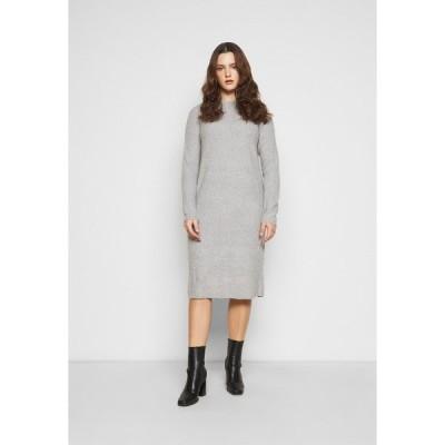 ピーシーズ カーブ ワンピース レディース トップス PCDISA MOCK NECK DRESS CURVE - Jumper dress - light grey melange
