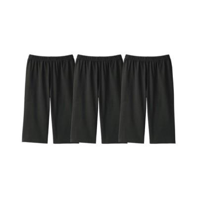 深ばき綿混5分丈オーバーパンツ3枚組(L~LL) (レギンス・スパッツ・オーバーパンツ)Leggings