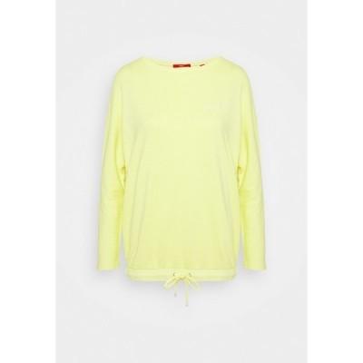 エスオリバー パーカー・スウェットシャツ レディース アウター LANGARM - Sweatshirt - lime yellow
